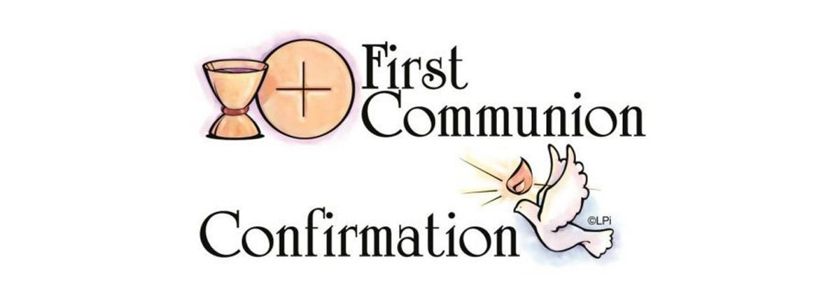 First Communion and Confirmation dates 2020